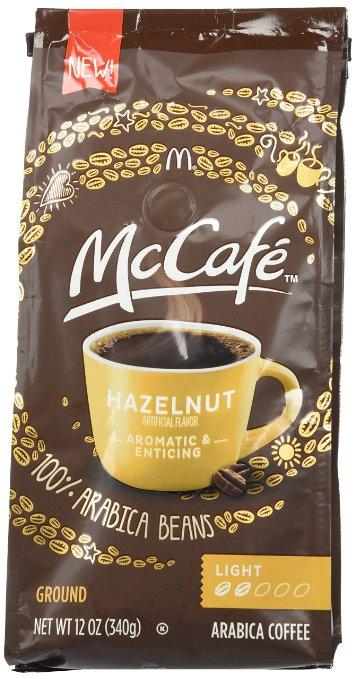 McCafe Coffee Hazelnut Ground Coffee, Light Roast, 12 Ounce x 5 = $15.65 + Free Prime Pantry Shipping