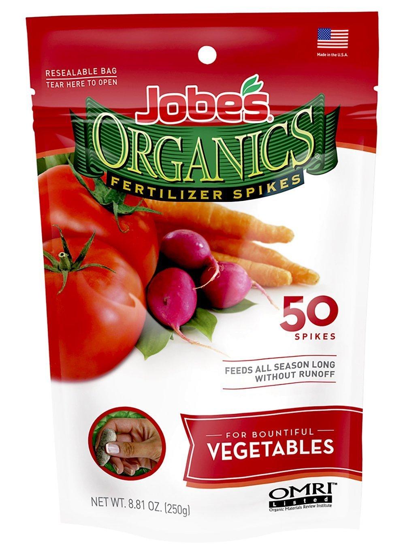 Jobe's Organics Vegetable & Tomato Fertilizer Spikes, 50 Spikes Amazon $4