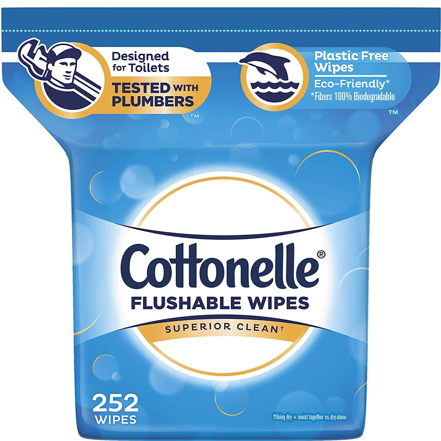 Cottonelle FreshCare Flushable Wipes for Adults 252 Wet Wipes amazon s&s $6