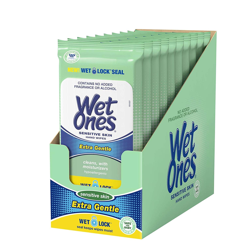Wet Ones Sensitive Skin Hand Wipes, 20 Count Pack Of 10 $8 Amazon s&s