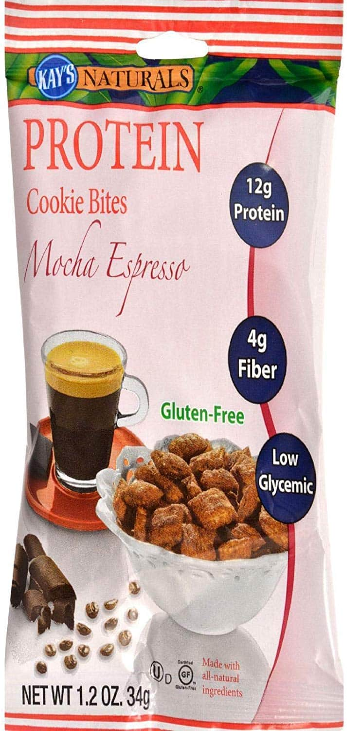 Kay's Naturals Protein Cookie Bites Mocha Espresso 1.2 Ounce Pack of 6 $1.6 Amazon s&s