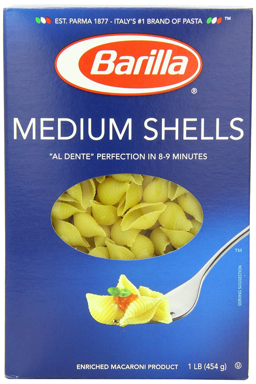 12-Pack 16oz Barilla Pasta (Medium Shells)