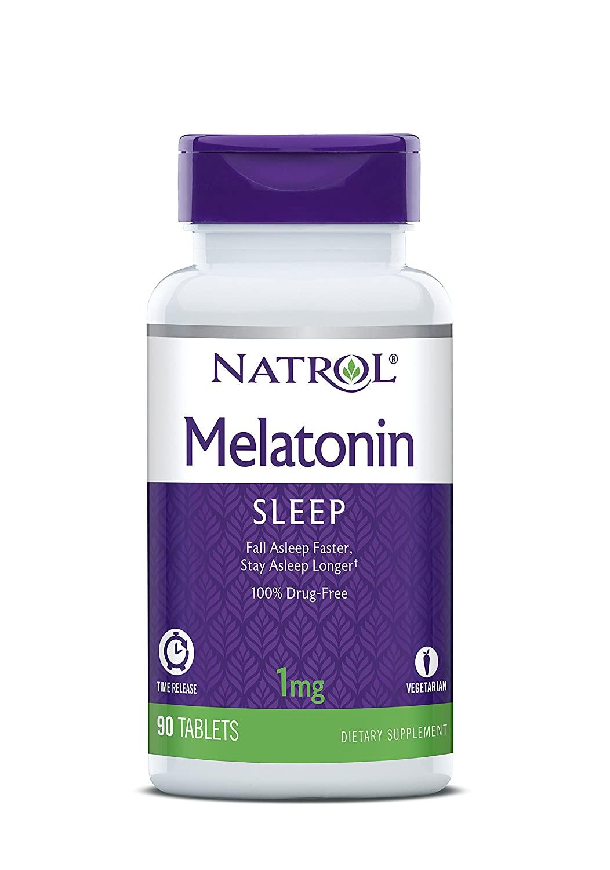 Natrol Melatonin Time Release Tablets, 1mg, 90 Count $2 Amazon