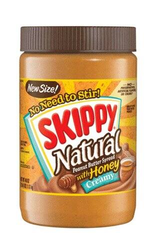 40-Oz Skippy  Peanut Butter, Creamy and Natural w/ Honey $4.17 or Less, Amazon S&S w/ Coupon