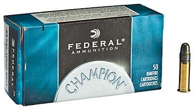 AMMO:  Federal Champion .22 LR Rimfire Ammo @ BASS PRO SHOPS 525 rd brick $24 OR 50 rd box $2.49, Free Shipping on $75+ or Free Ship to Store