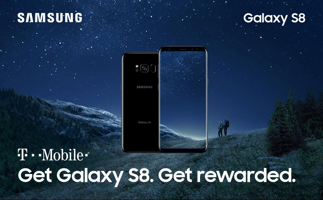 Samsung Pay (Rewards) Get a $100 Samsung Rewards Visa with T-Mobile Galaxy S8/S8+ Purchase