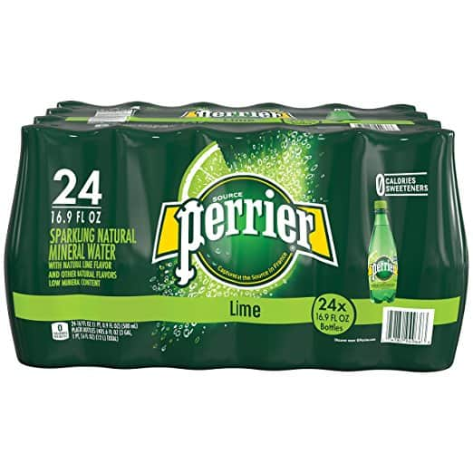 24-Pack 16.9oz Perrier Sparkling Mineral Water (Lime) - $11.90
