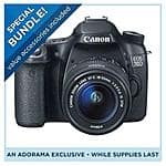 Canon EOS 70D DSLR Camera + EF-S 18-55 IS STM Lens + Pro-100 Printer + Bag + Paper = $749 after $350 rebate + free shipping