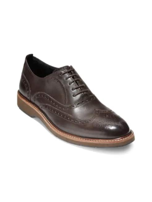 Cole Haan Morris Wingtip Leather Oxfords, Java Color, $46.19 AC at Saks off 5th, Shoprunner free shipping