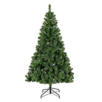 Christmas Tree, 7.5 ft Easy-Assembly Artificial Evergreen Christmas Tree with Metal Legs 40% OFF @$59.99 @Amazon