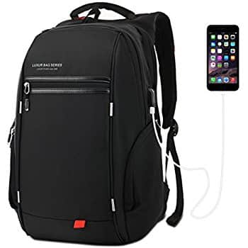 37L Laptop Backpack USB Charging Port Waterproof Travel Daypack 20% OFF @$23.99 @Amazon