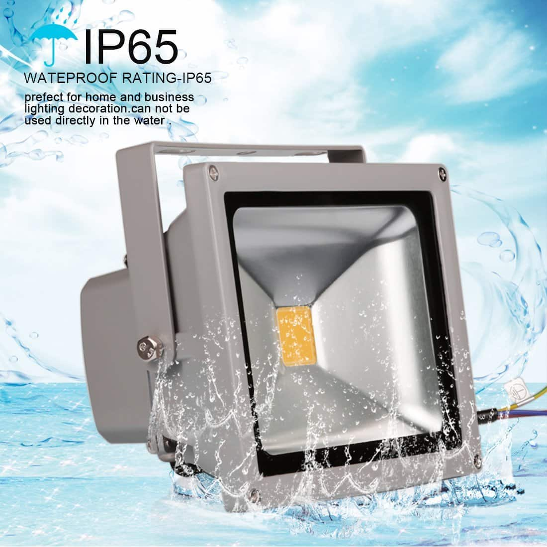 20W/50W/100W Waterproof IP65 LED Flood Light Halogen Equivalent 40% OFF @$12.59 @Amazon