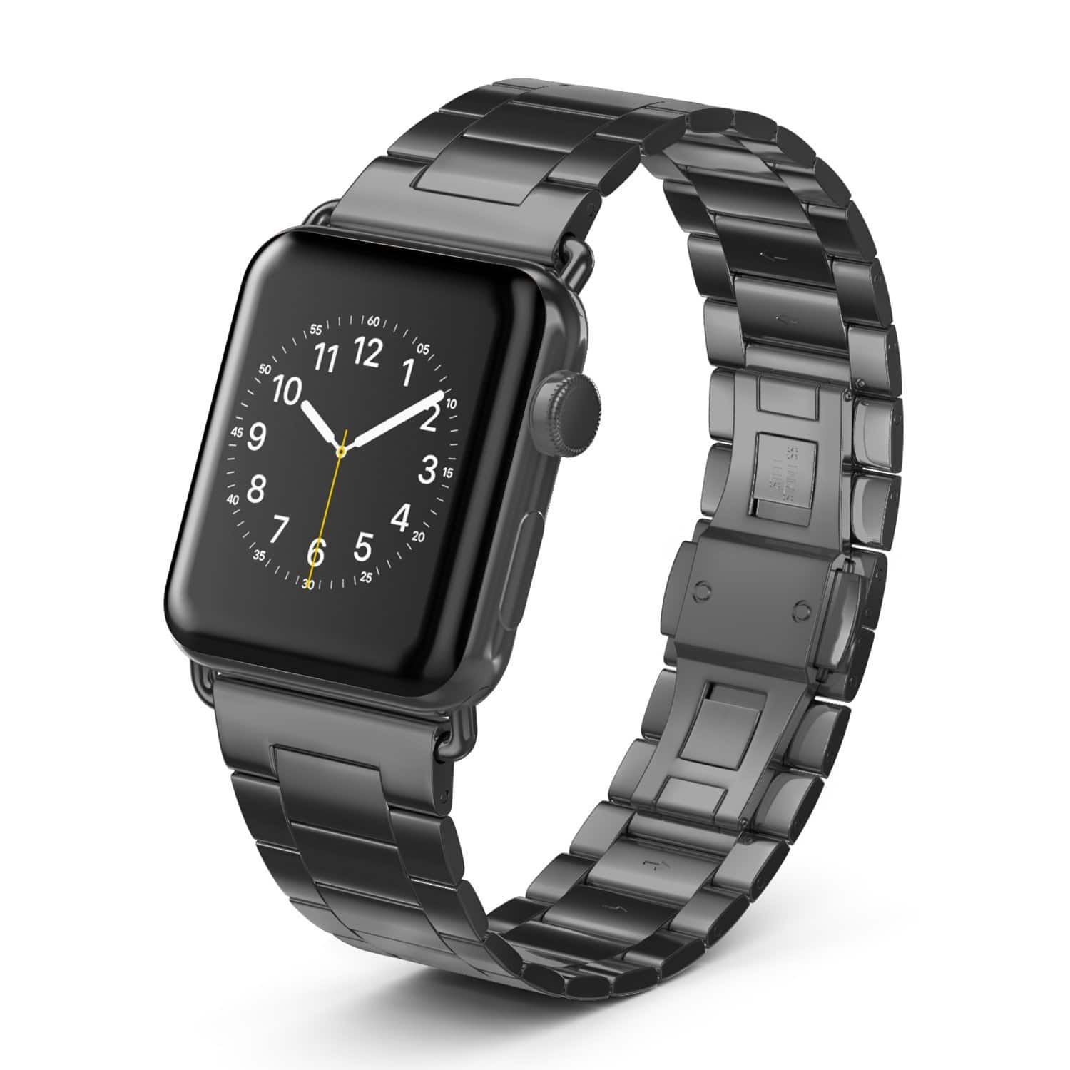 Apple Watch Bands 38mm 42mm Stainless Steel Bracelet Strap Replacement 50% OFF @$9.99+FS @Amazon
