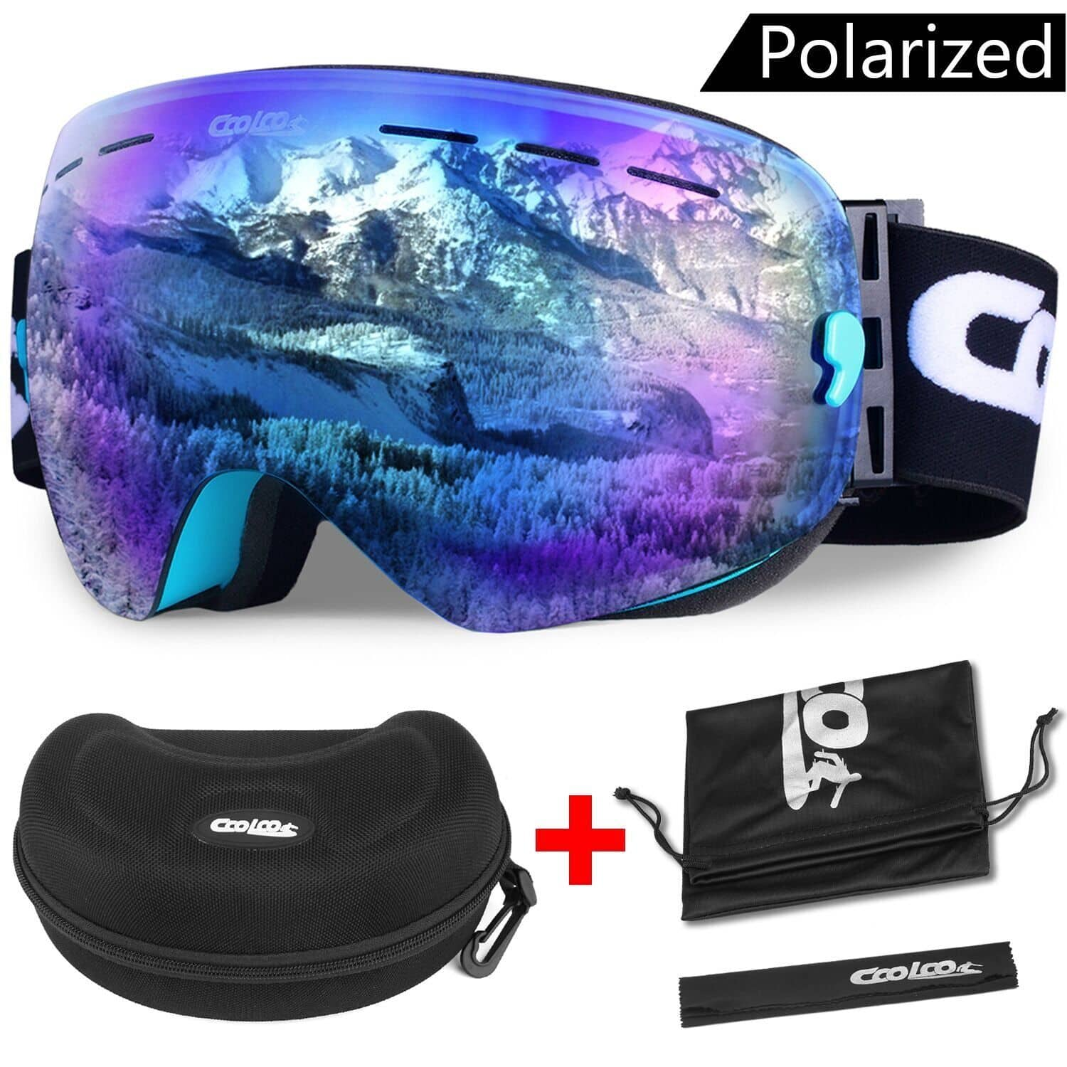 CooLoo Ski Goggles, Snowboard Helmet Dual Panoramic Lens $13.5 Clearance Sale + Free Shipping @Amazon