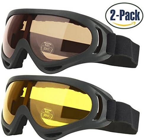 2pcs Ski Goggles Snowboard Goggles for Men & Women, Kids, Youth with UV 400 Protection  Anti-Glare Lenses @$5.99+FS @Amazon