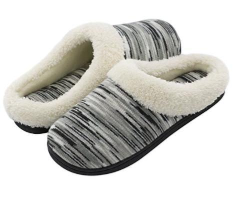RockDove Women's Memory Foam Woolen Winter Slippers, Washable House Shoes w/Indoor Outdoor Sole 30% OFF @$11.89+ FS @Amazon