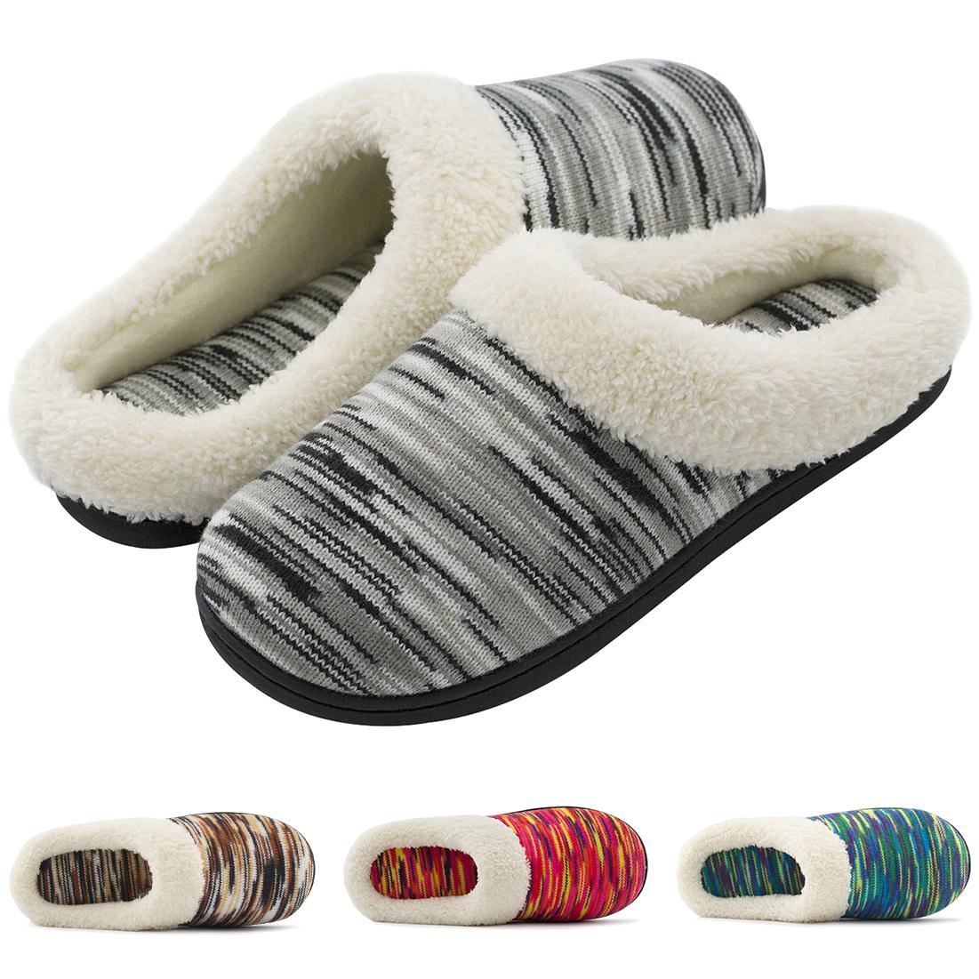 RockDove Women's Memory Foam Woolen Slippers, Washable House Shoes w/Indoor Outdoor Sole 31% OFF @$11.72+FS