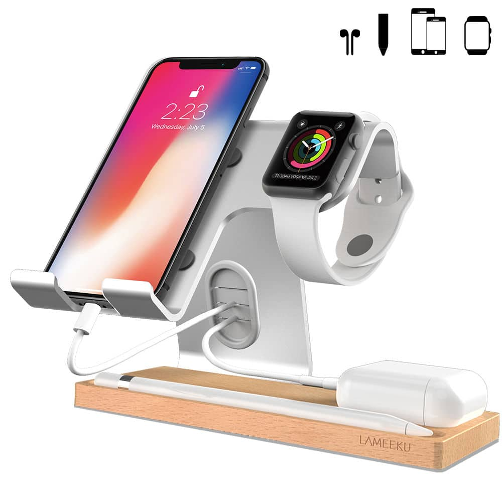 Apple Watch Stand, Desktop Cell Phone Stand For all Android Smartphone 50% OFF @$9.99+ FS