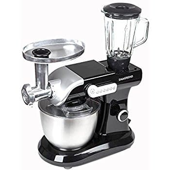SMAGREHO 6-Quart Classic Series Stand Mixer with Pouring Shield Include Blender Attachments 50%OFF @$99.99+FS