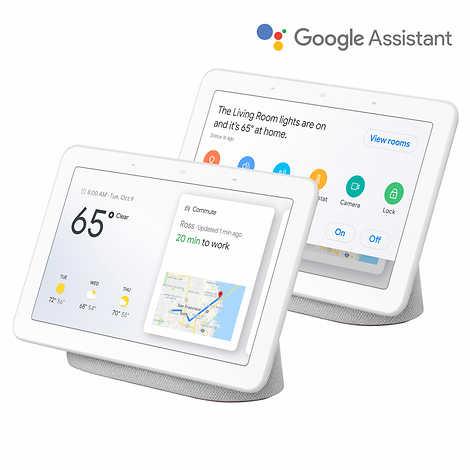 Google Nest Home Hub Smart Display, Chalk, 2-pack $89.99 @ Costco.com