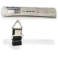 Amazon Deal: Digital Luggage Scale w/ 110 lb capacity and thermometer $6.57 FSSS/Prime  @Amazon