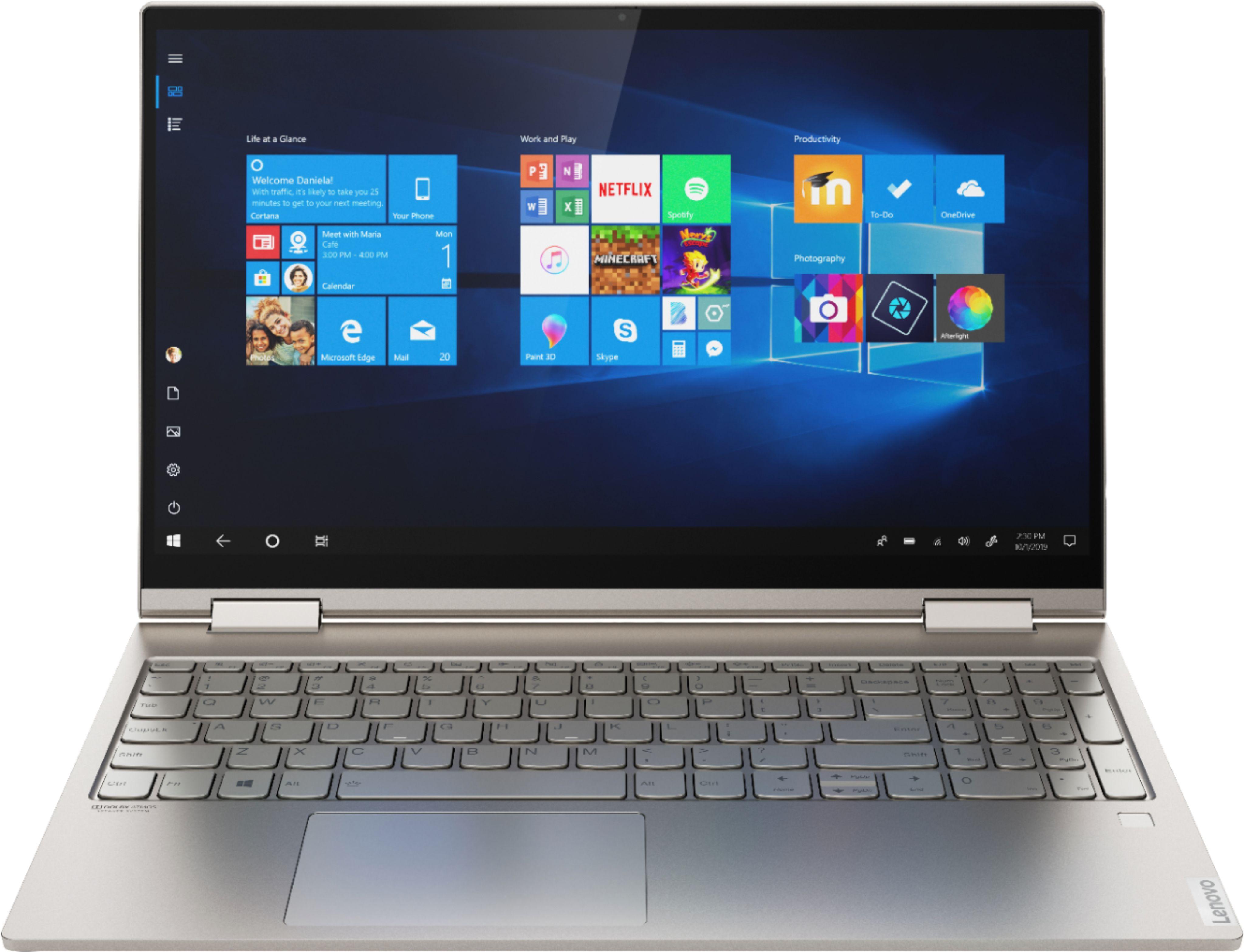"Lenovo Yoga C740 2-in-1 Laptop 14"" FHD IPS Dolby Vision Backlit Intel Core i7-10510U 16GB DDR4 1TB SSD Mica @ Lenovo $919"