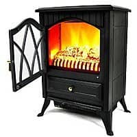 "Amazon Deal: AKDY 16"" European Style Freestanding Electric Fireplace Heater Stove $77.99 AC + FS @ Amazon"