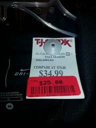 TJ Maxx: Extra 75% off Clearance B&M, yellow tag clearance --- starting date is YMMV