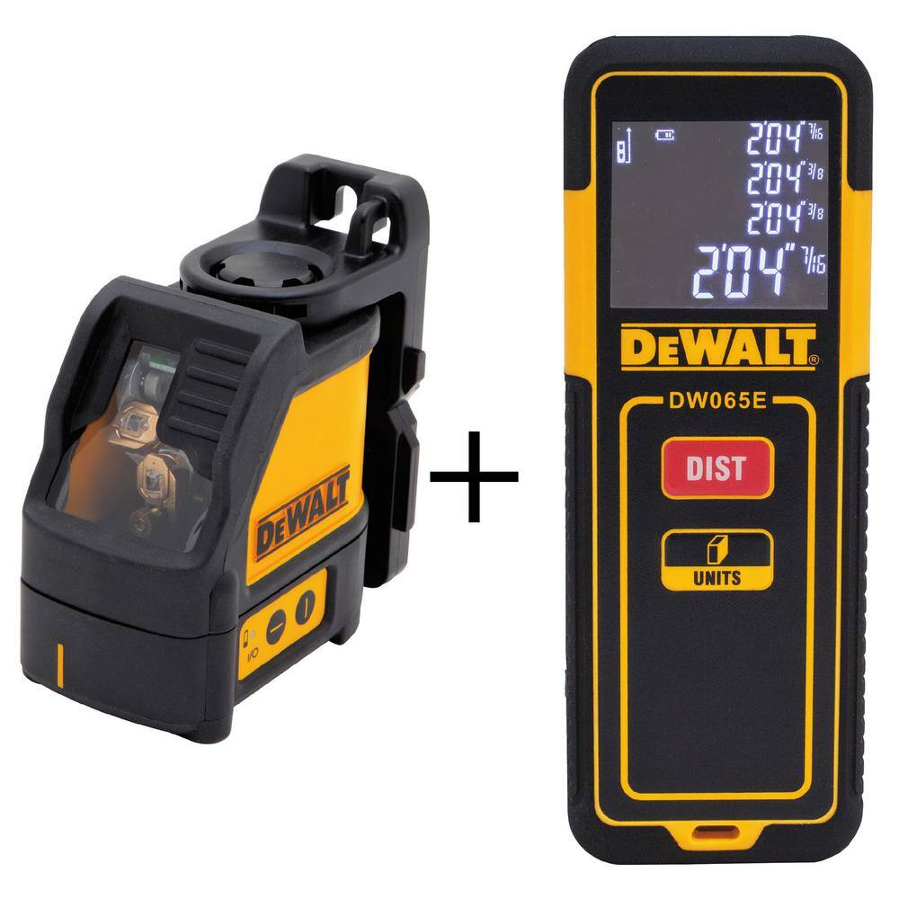 DeWalt Cross Line Laser Level with Bonus 65 ft. Laser Distance Measurer - $99 @ Home Depot (Free Shipping or In-Store Pick up)