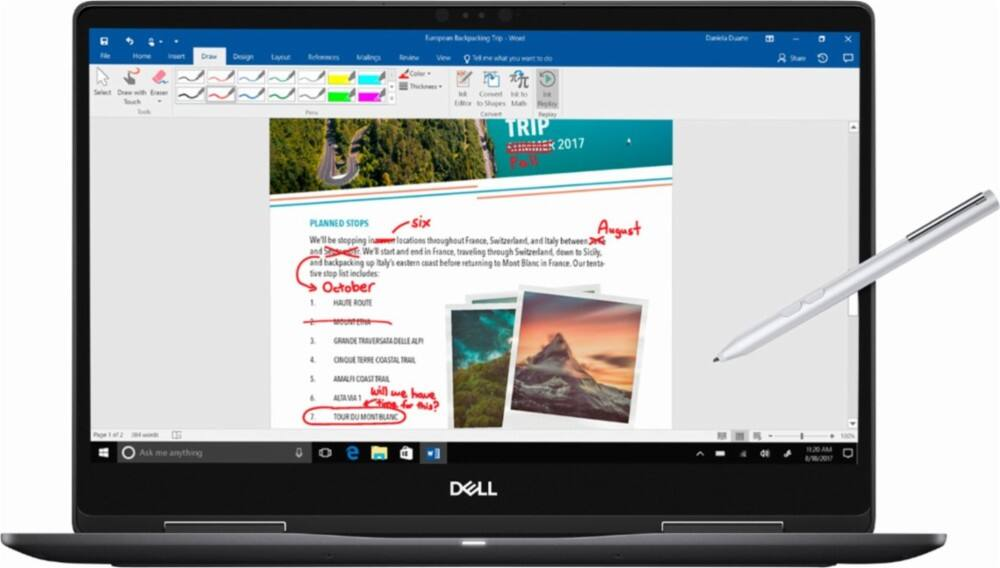 "Dell - 2-in-1 15.6"" 4K Ultra HD Touch-Screen Laptop - Intel Core i7 - 16GB Memory - NVIDIA GeForce MX130 - 512GB SSD $1099.99 w/ Student Email ($1149.99 w/o) @ Best Buy"