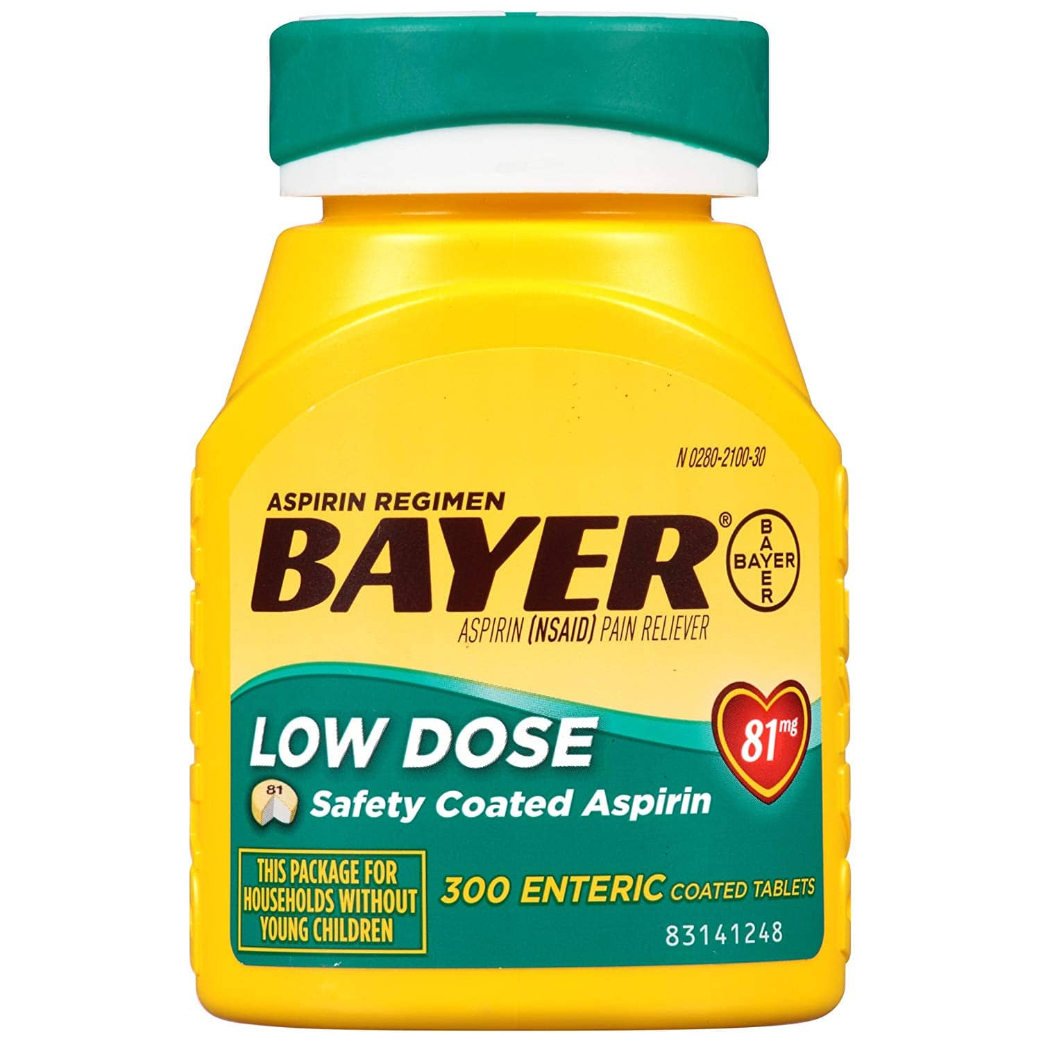 300-Count Bayer 81mg Low Dose Aspirin Regimen $6.54 w/ S&S + Free Shipping