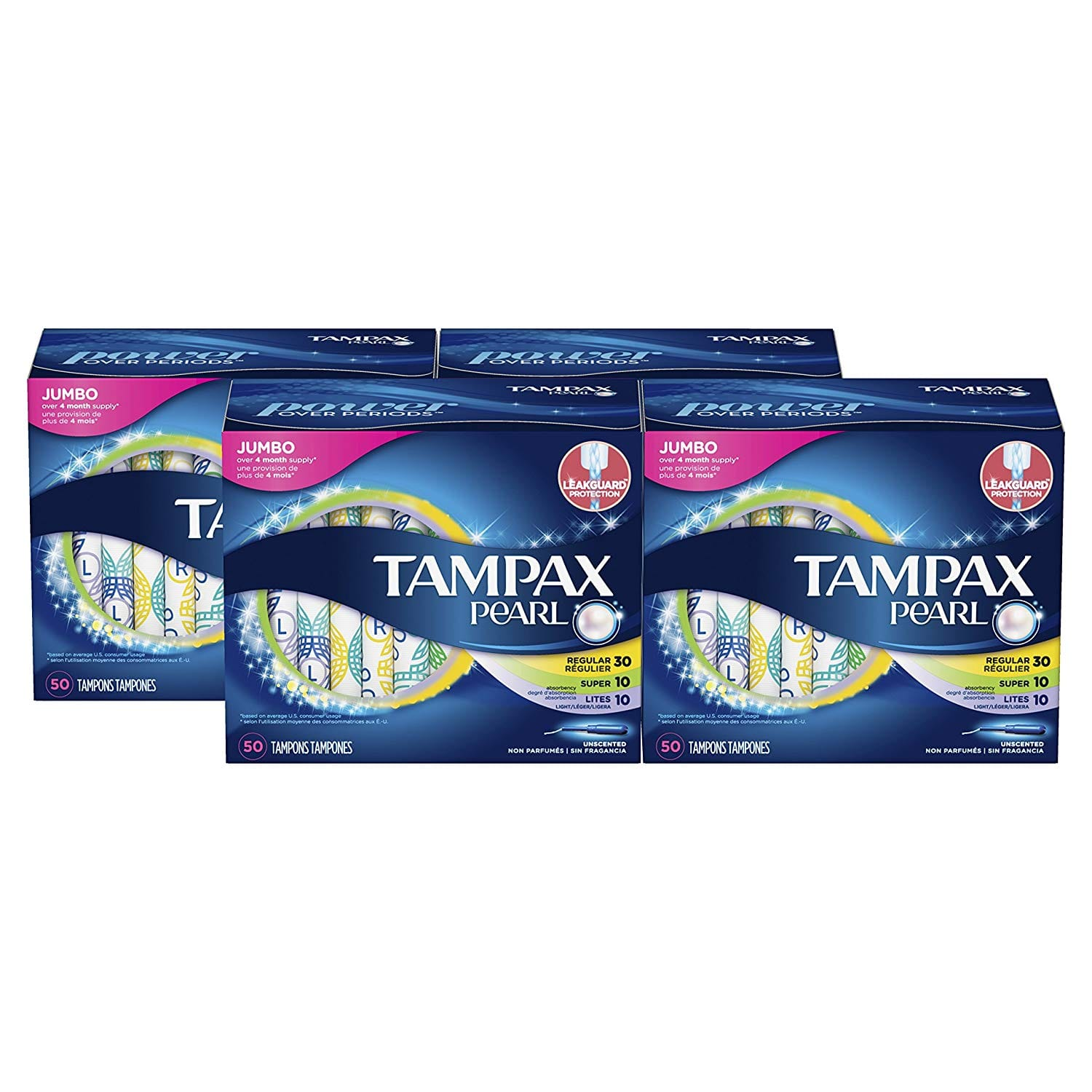 144-Ct Tampax Pocket Pearl (Regular Absorbency, Unscented) $22.56, 200-Ct Tamapx Pearl Plastic Tampons (Multipack, Unscented) $31.68 & More w/ S&S + Free S&H