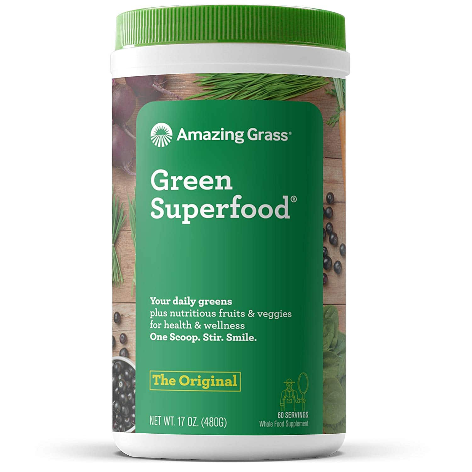 17oz Amazing Grass: Organic Wheat Grass $20.56, Green Superfood (Original) $20.76 w/ S&S + Free Shipping