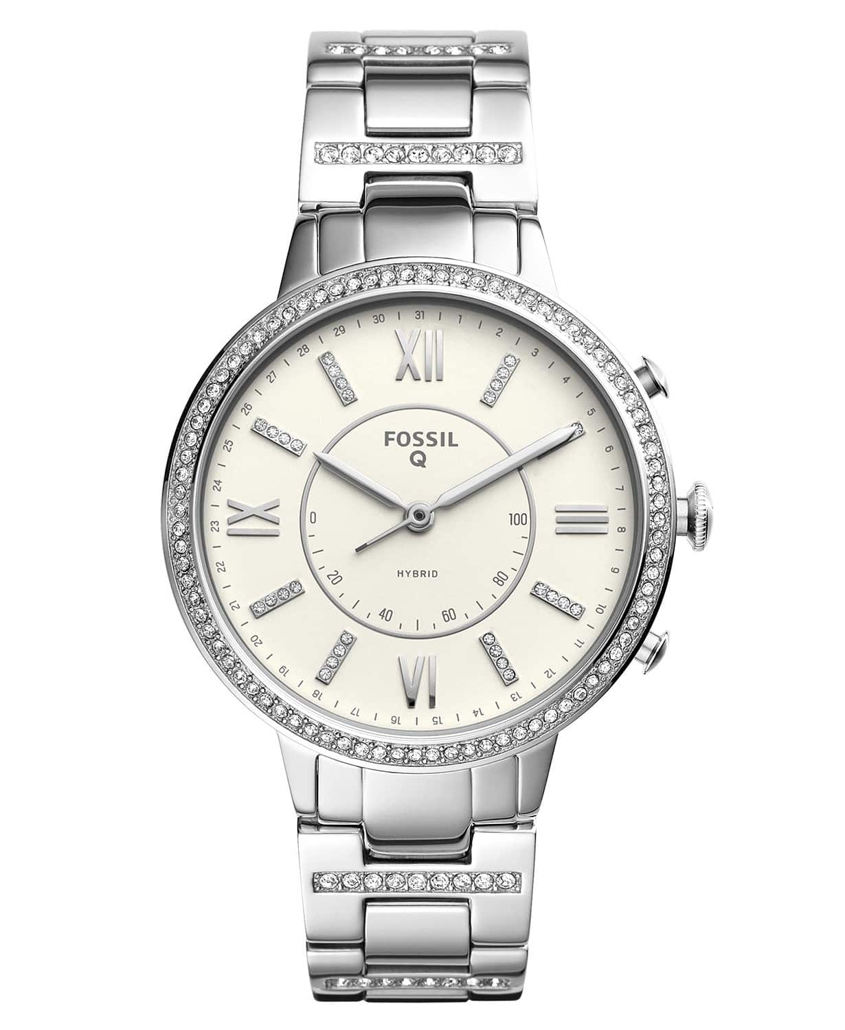 Fossil Q Hybrid Smartwatches Women S Virginia 36mm Stainless Steel