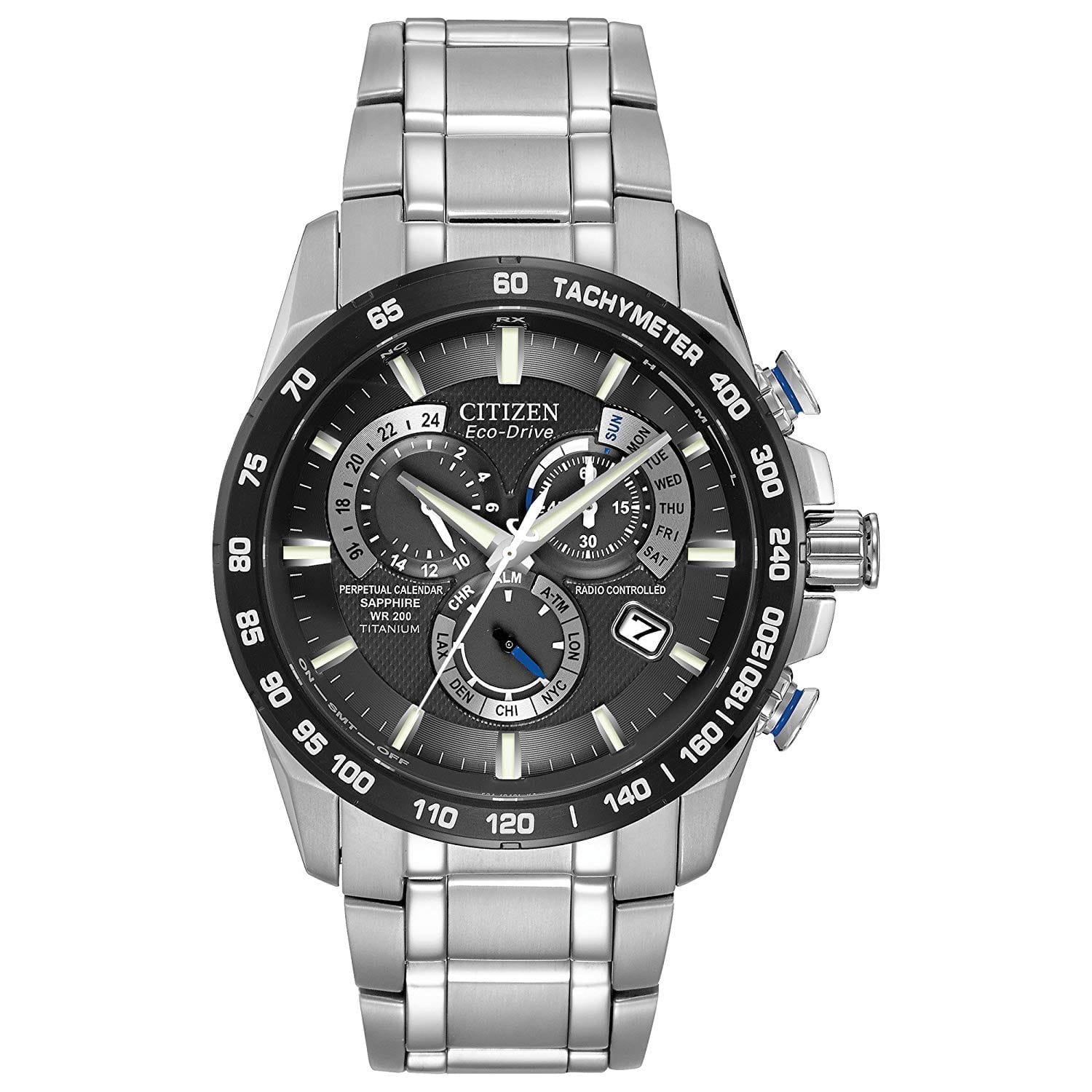 Citizen Eco-Drive Men's Titanium Perpetual Chrono Atomic Timekeeping Watch $239.99 + Free Shipping