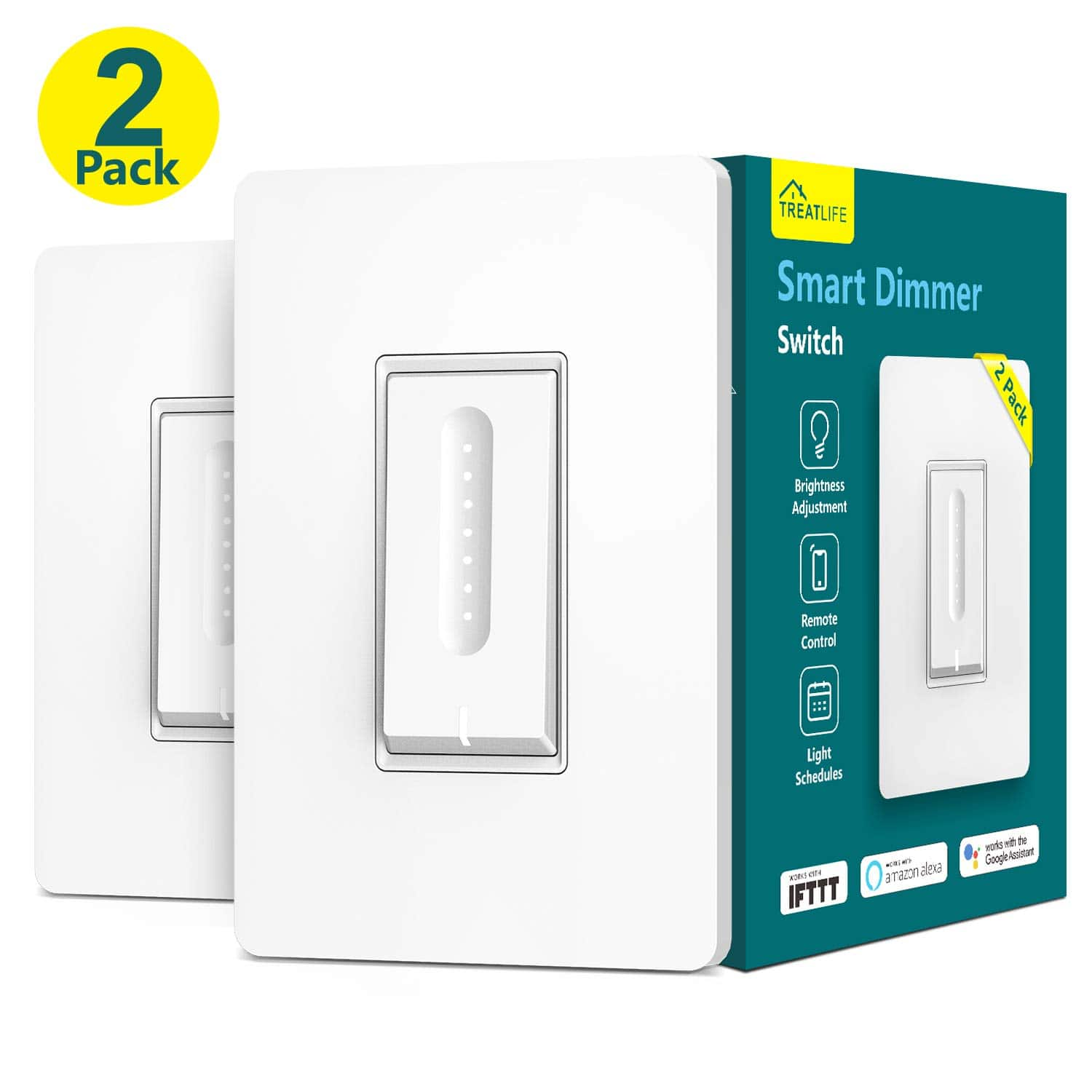 Treatlife Smart WiFi Dimmer Light Switches: 4-Pack $60, 2