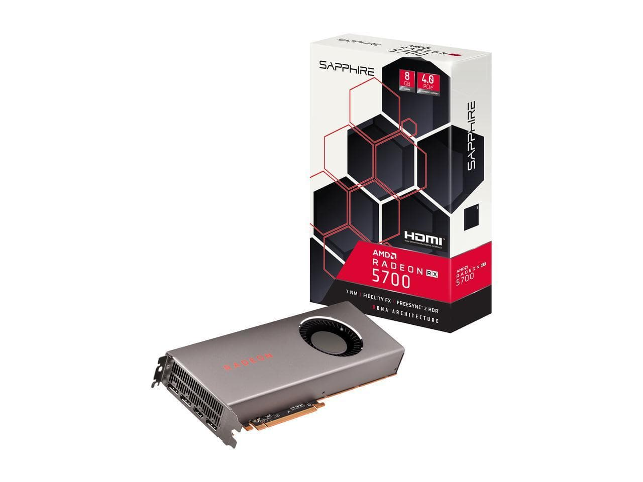 Sapphire Radeon RX 5700 8GB GDDR6 Graphics Card + 3-Months