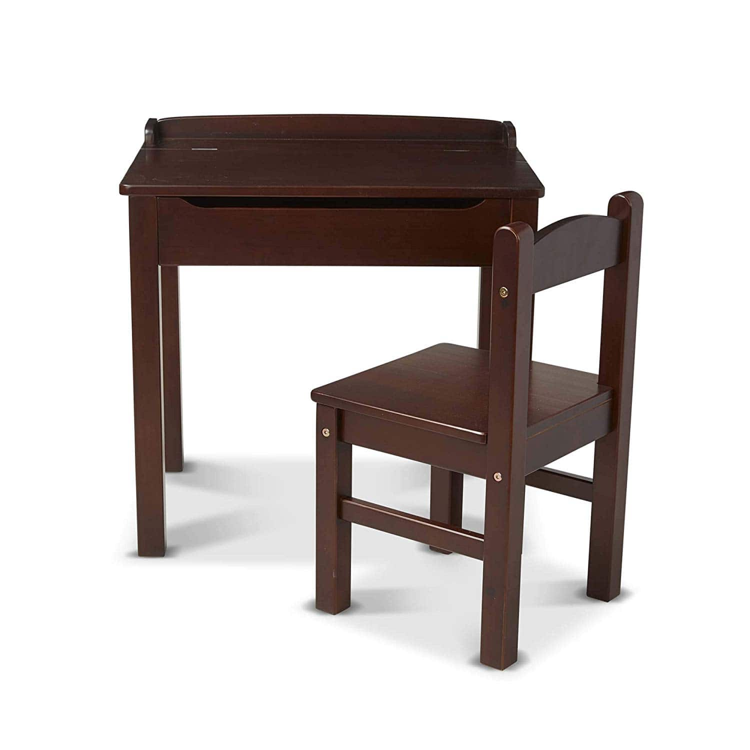 Melissa & Doug Child's Lift-Top Desk & Chair (Espresso) - Slickdeals net