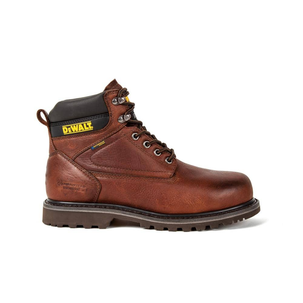 "Men's Work Boots & Shoes: DeWalt 6"" Axle Brown Leather Waterproof Boots: Soft Toe $57.50, Steel Toe $60, & More + Free Shipping"