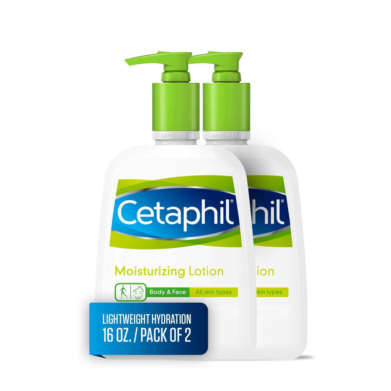 2-Pack 16oz. Cetaphil Moisturizing Body & Face Lotion