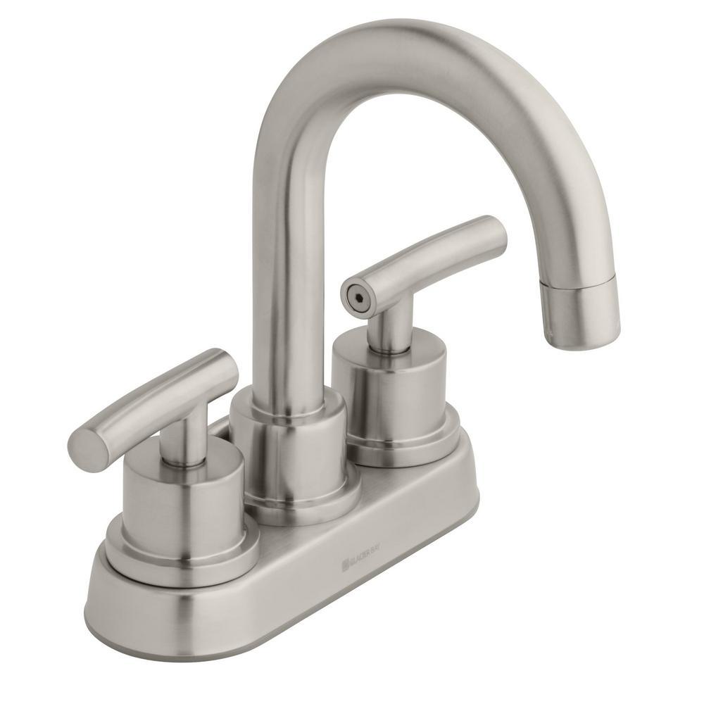 "Glacier Bay Dorset 4"" Centerset High-Arc Bathroom Faucet (Brushed Nickel) $31 & More + Free Shipping"