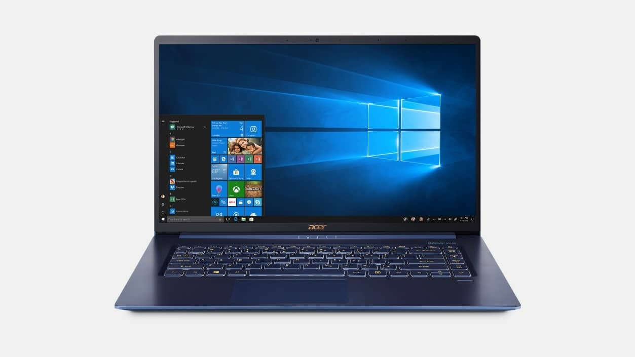 """Acer Swift 5 Touch Laptop: i5-8265U, 15.6"""", 8GB DDR4, 256GB SSD, Windows 10 Home $599 + Free Shipping"""