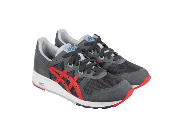 Asics Gel Epirus Dark Grey Fiery Red Mens Lace Up Sneakers $24.99