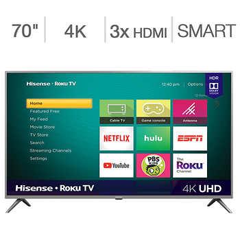 Costco.com: Hisense 70'' Class - 70R6270F - 4K UHD LED LCD TV + Free shipping $499.99