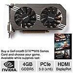 ZOTAC GeForce GTX 970 ZT-90101-10P 4GB 256-Bit GDDR5 Video Card $289