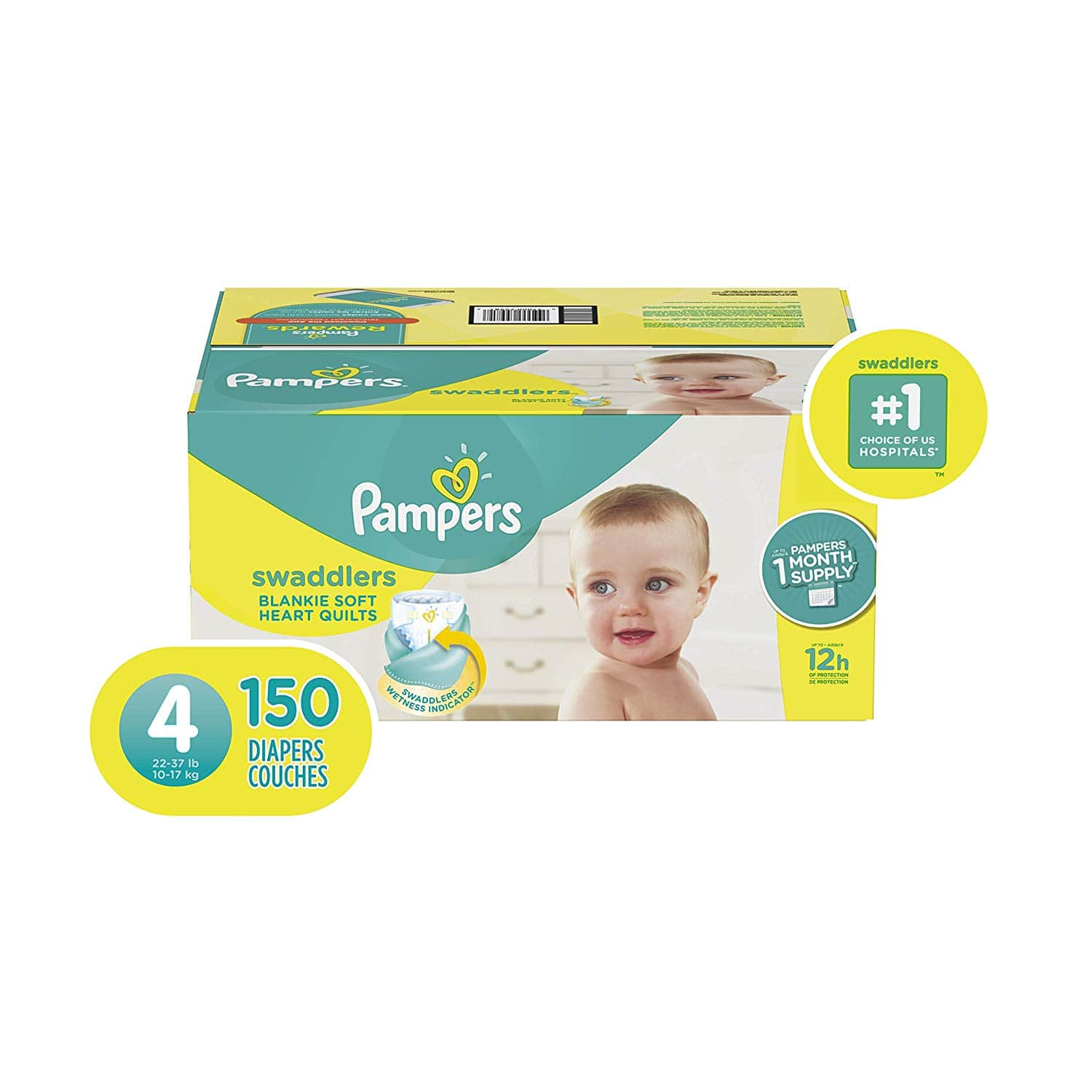 Pampers Swaddlers Diapers Size 4 150 Count 50 percent off first order $24.75