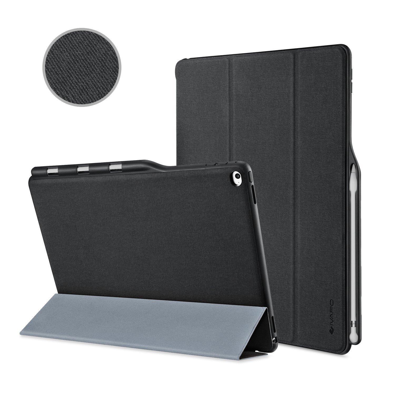 iVAPO Premium PU Slim Fit Flip Folio Case with Apple Pencil Holder, Auto Sleep/Wake Smart Fabric Cover for iPad pro 12.9 inch-Black $19.49 w/ promo code @Amazon 35% off
