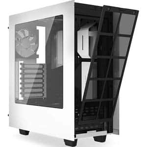 NZXT S340 Matte Black/White Steel Windowed ATX Mid Tower Case $49.99 FRYS
