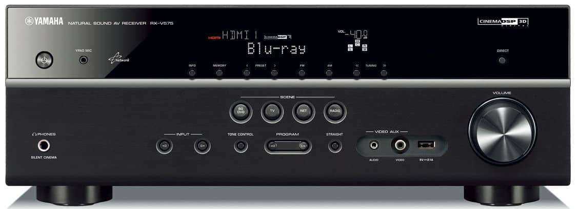 YAMAHA RX-V575 7.2-Ch x 80 Watts Networking A/V Receiver for 169.99$ - Refurbished with one year warranty $169.99