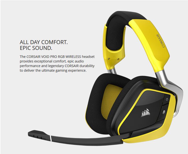 Corsair VOID Pro Wireless Headset PC $64.99